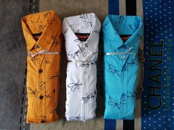 Casual Wear Men Printed Shirt, Size: Large
