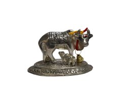 Silver Plated Brass Kamdhenu Statue