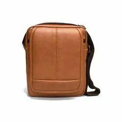 Brown Leather Handbag, For Shopping, Gender: Women