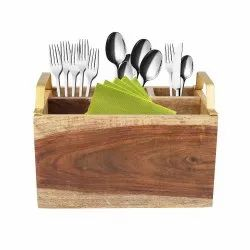 Wooden Cutlery Stand