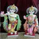 Colorful Radha Krishna Statue