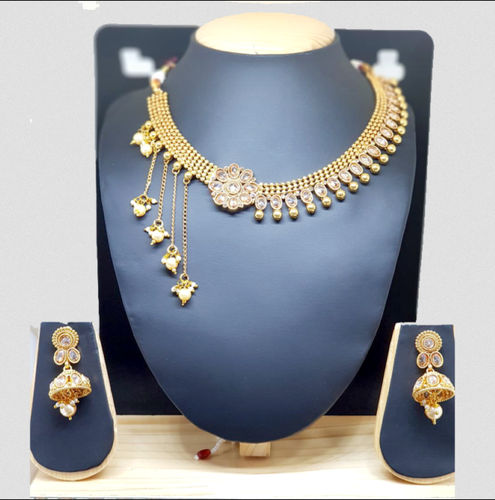 Love Jewellery Gold Plated With Beautiful One Side Hanging Rs
