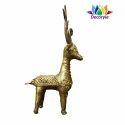 Dhokra Brass Deer Statue