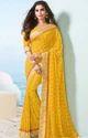Vishal Pastel Hues  Designer Saree Yellow Sut11132