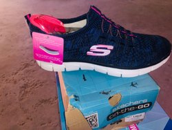 Mesh Lace-Up Skechers Memory Foam Shoes
