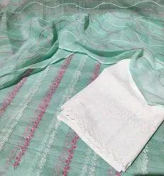 Unstitched Unstitch Ladies Suits, Dry clean