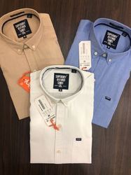 Superdry Full Sleeves Mens Formal Shirts, Machine wash