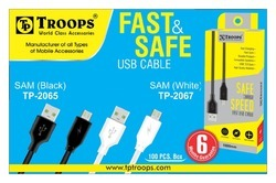 USB TO S3 1MTR CHARGING CABLE B&W