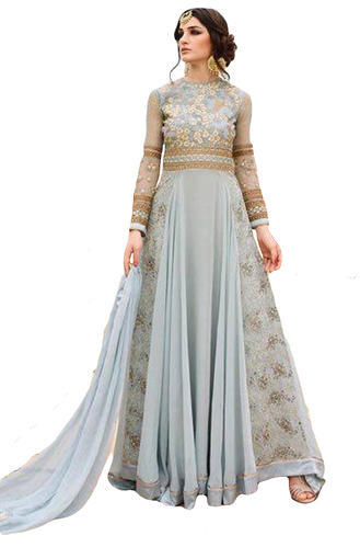 4f3ee7a324f Georgette Heavy Embroidery Party Wear Anarkali Suits