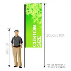 Printed Flying Banner, Size: Custom, For Promotioanl