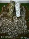Cotton Suit Material With Chiffon Dupta