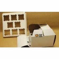 8 Cavity Handle Cupcake Box