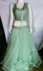 Net Fancy Party Wear Gown Lehenga Choli