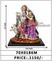 Krishna and Radha God Idol with Jewellery
