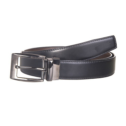Buckle Black PU Leather Belt, Size: Standard