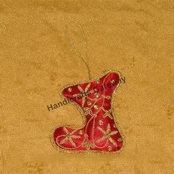 Decorative Zari Christmas Ornaments