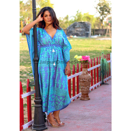 8de0e72df32 Cotton Fabric Embroidered Beachwear Designer Kaftan, Rs 4000 /unit ...
