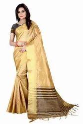 GABANI MEX Casual Wear Jacquard Saree, With Blouse Piece, 5.5 m (separate blouse piece)