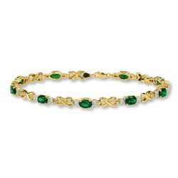 Emerald Diamond Bracelet Gold Natural Emerald Bracelet