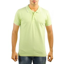 Mens Collar Neck Cotton Half Sleeves Polo T-Shirts