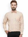 Beige Full Sleeve Formal Shirts