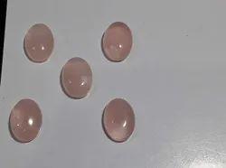 Rose Quartz Oval Shape Calibrated Cabochons Loose Gemstone