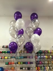 Purple Silver Balloon Decoration