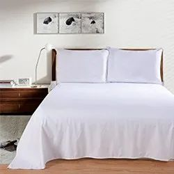 White Double Bedsheet