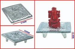 Coral Ganesh with German Silver Kalusham Table