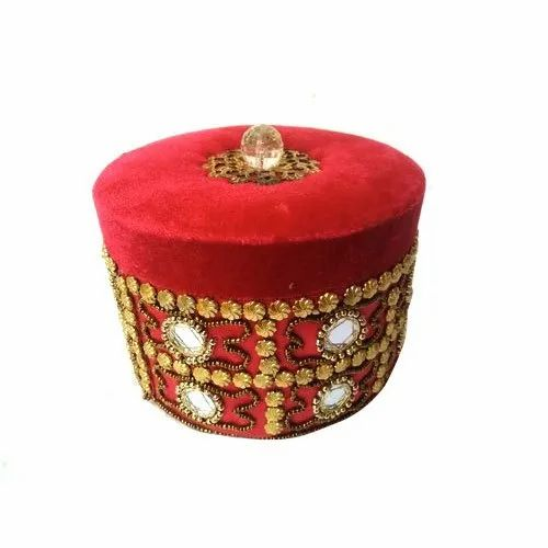 a9e47d3f5 Wooden,Velvet Red,Golden Handmade Round Ring Jewelry Box, for To Keep  Jewellery