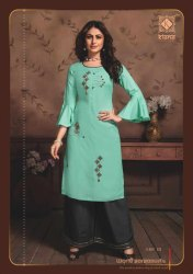 Womens Party Wear Kurti With Palazzo
