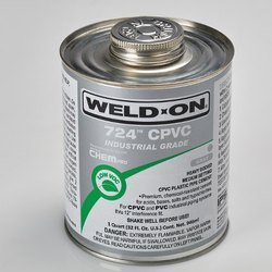 Weld On 724 CPVC Plastic Pipe Cement, Grade: Industrial