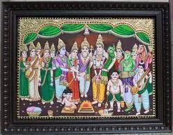 Shiva Parvathy Kalyanam Tanjore Painting