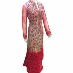 Red Western Wear Ladies Party Wear Dress