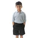 Grey And Black Cotton Boys School Uniform, Size: Small And Medium