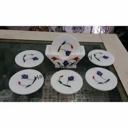 Marble Inlay Coaster Set