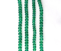 Green Onyx Roundel Faceted Beads