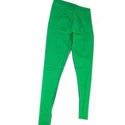 Lycra Churidar Ladies Green Legging, Size: XL, XXL