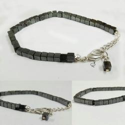 Gun Metal Square Bracelet