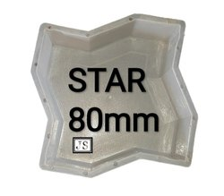 Star Silicone Plastic Paver Mould