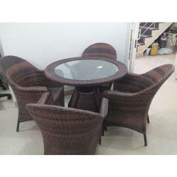 Outdoor Wicker Chair and Table Set