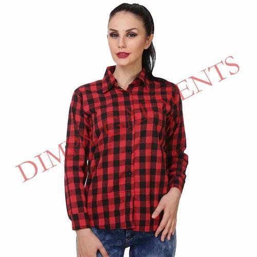 da6f5ada7ab Women Check Shirt