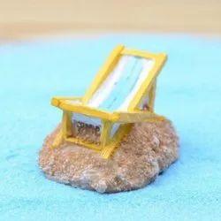 Resin Wonderland Beach Chair Miniature