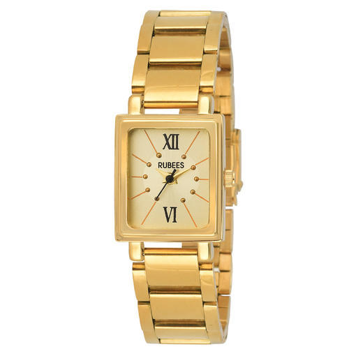 multidial guess watch golden wrist steel stainless imported buy watches ladies analog