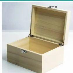 Rectangle Polished Wooden Box, Size: 8x12