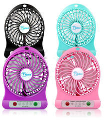 Multicolored Plastic Super Fast Battery Operated Powerful Mini Fan