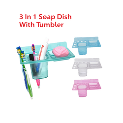 3 in 1 Soap Dish with Tumbler