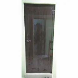 Hinged Brown Wood Finish PVC Door, Thickness: 1-2 Inch, Interior