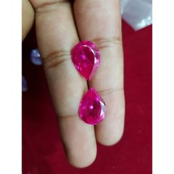 Pink Synthetic Ruby Gemstone