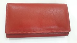 Red Leather Ladies Purse